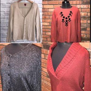 🔥Size XL Fall Sweaters All 4! Gap Eddie Bauer